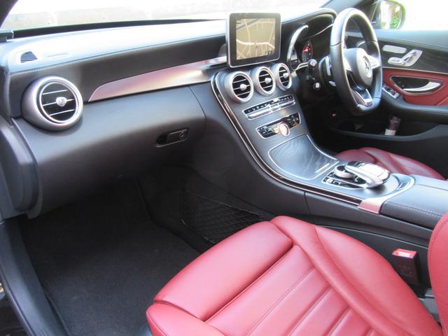 C200アバンギャルド AMGライン パワートランク HUD 赤革シートヒーター 両席パワーシート ディストロニック+ エアサス キーレスゴー 純ナビTVバックカメラ  レーダーセーフ(26枚目)