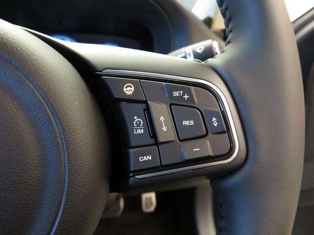 ヒートステアリングホイール(40,000円)「運転中の手を温め、快適なドライブをアシストしてくれます。女性にも喜ばれる快適装備です。」