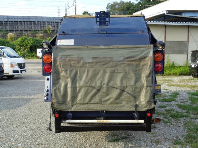 2t積 極東製プレスパッカー車4.2立米 4.0Lディーゼル フロア5速MT 連続スイッチ付 型式KK NOxPM適合(5枚目)