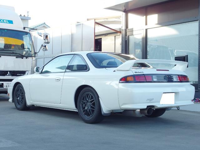 Q's S14後期 5MT 社外マフラー(6枚目)