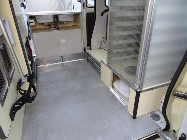 移動販売車 キッチンカー 加工車登録 軽自動車 8ナンバー シンク オーブン サイドオーニング 1人乗り(50枚目)