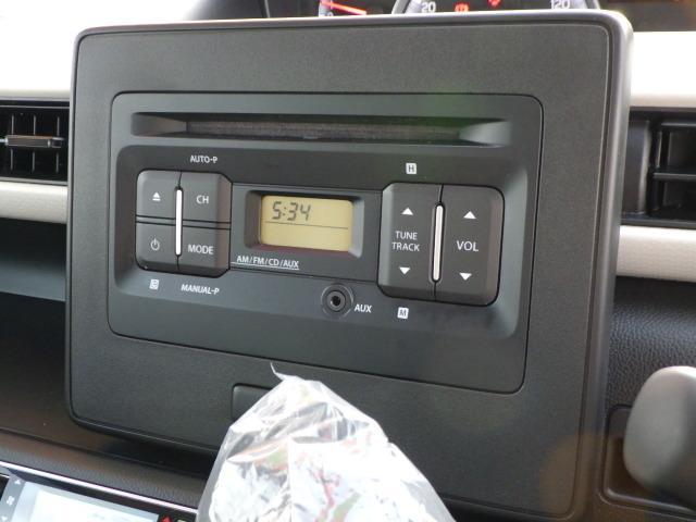 AM/FMラジオ付きCDステレオ装備