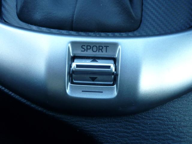 使用シーンに応じて燃費モードとスポーツモードの切り替えを行えます!