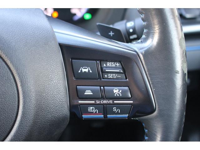 ★ステアリングのスポーク部にはアイサイトの追従クルーズコントロール用の操作スイッチを配置!各部スイッチ類につきましては、納車時にもしっかりご説明させて頂きます