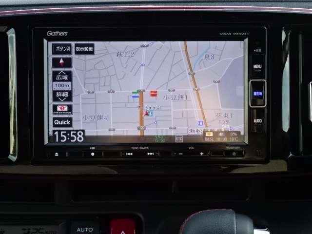 RS 軽自動車 メモリーナビ フルセグTV ETC(7枚目)