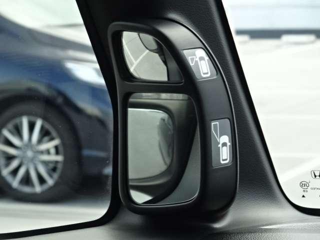 車両の左側の視界をサポートしてくれるサイドビューサポートミラーが装備されています!