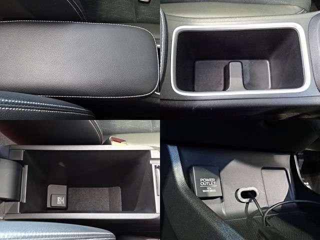 運転席と助手席の間にはアームレスト《小物入れ付》が装備されています!
