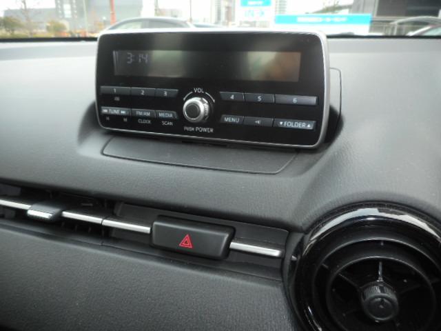 純正のラジオです。別の場所にUSB端子があります。