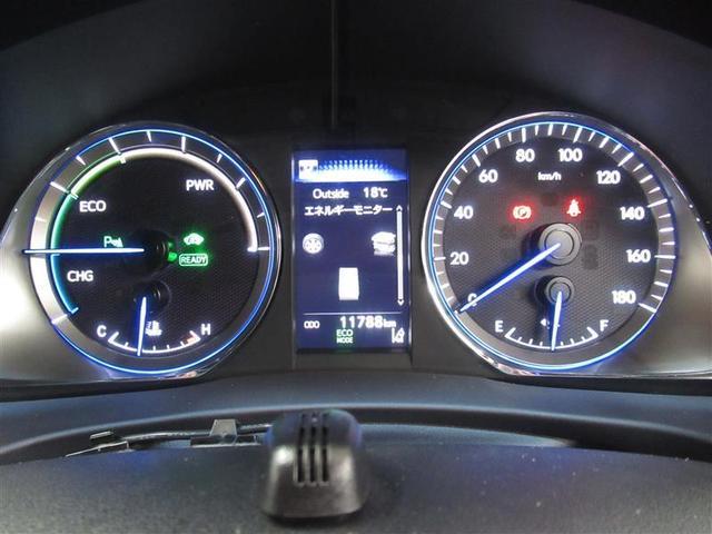 プレミアム ハイブリッド ワンオーナー 4WD ハーフレザー 電動シート 安全装備 衝突被害軽減システム 横滑り防止機能 ABS エアバッグ オートクルーズコントロール 盗難防止装置 バックカメラ ETC CD(12枚目)