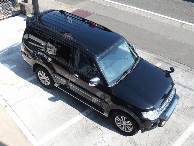 三菱 パジェロ ロング エクシード ディーゼル 1オーナー 黒革シート