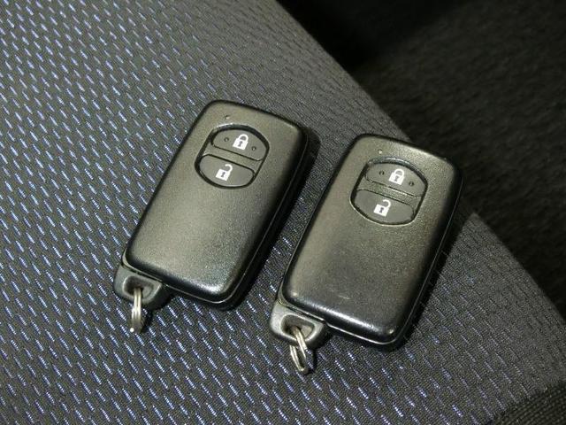 ボタン操作でドアロックの開閉やエンジン始動が可能なスマートキー
