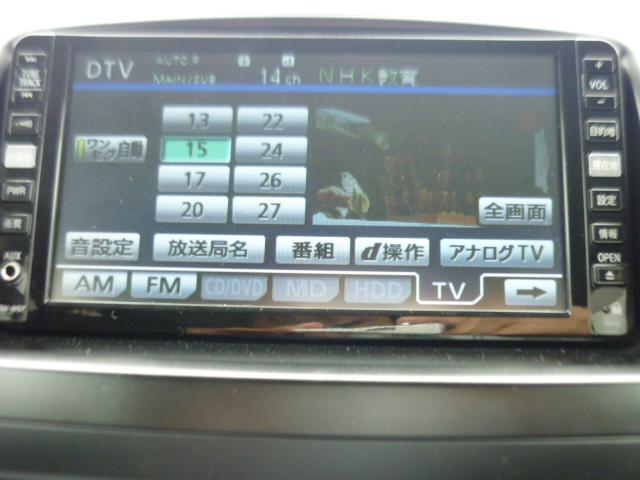 トヨタ ヴォクシー Z 純正HDDナビ 地デジ DVD再CD録 Bカメラ ETC