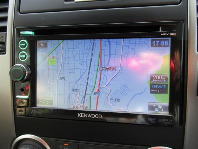 15M KENWOODメモリーナビ ワンセグTV DVD再生 SDカード対応 USB対応 CD再生 ETC車載器 黒本革シート ハーフレザーシート オートライト オートAC スマートキー(5枚目)