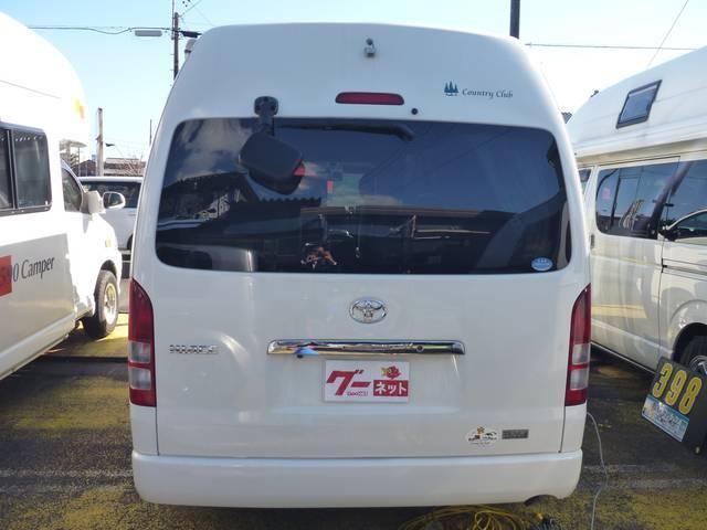 トヨタ ハイエースバン キャンピング レクビィ製「カントリークラブ」 温水設備付き