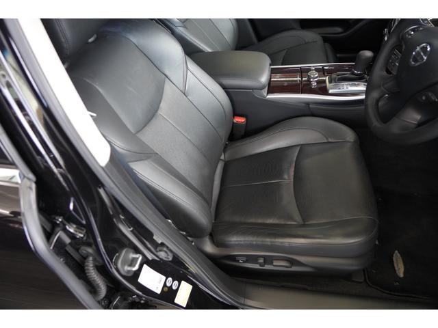 黒本革シート 電動調整シート シートポジションメモリー機能 シートヒーター&クーラー