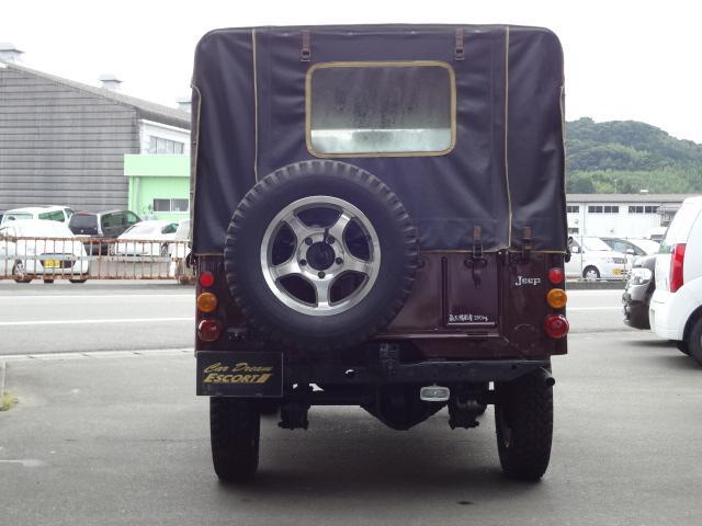 三菱 ジープ キャンバストップ J58 全塗装済み アルミ 4WD