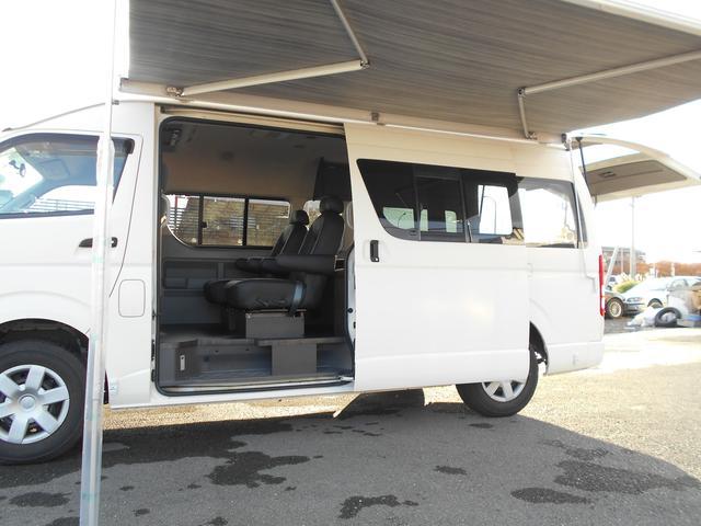 トヨタ ハイエースコミューター キャンピング ロング ワイド ハイルーフ 4WD