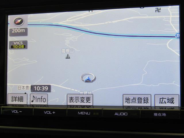 トヨタ純正SDナビ+フルセグテレビ+Bカメラ+ETC付きです。詳細地図により目的地をピンポイントで設定できます。初めての道でも迷いにくく、ロングドライブも快適ですよ♪