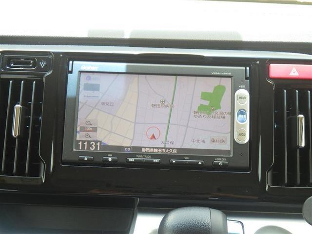 純正メモリーナビ+ワンセグTV+バックモニター付きです!初めての道も迷いにくく、ロングドライブも快適ですよ♪