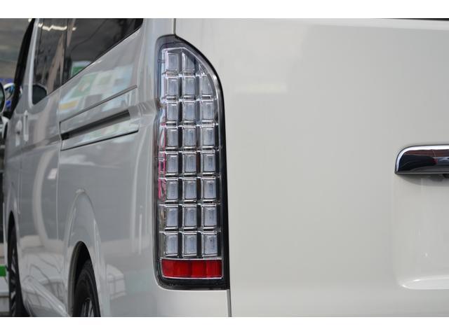 ロングDX GLパッケージ 前後同色バンパー 電動格納ドアミラー リアエアコン リアヒーター フルセグ地デジメモリーナビ フリップダウンモニター TRD風LED付きフロントスポイラー サイドアンダーバー 17インチアルミホイール(13枚目)
