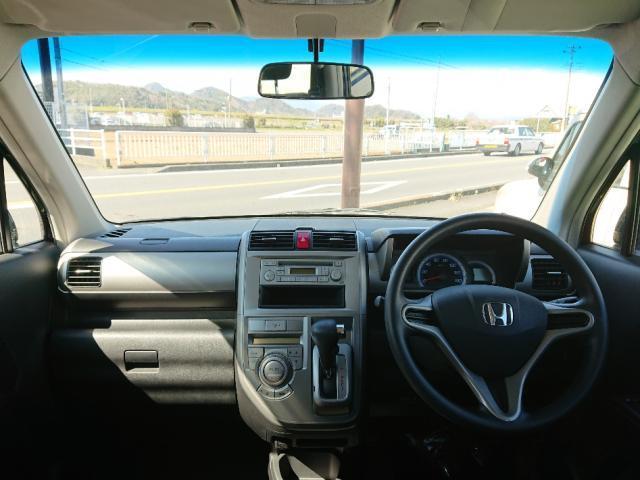運転のしやすさは、この視界の良さにあります。軽量ボディ×良好な見晴らしで安全にお乗りいただけます。