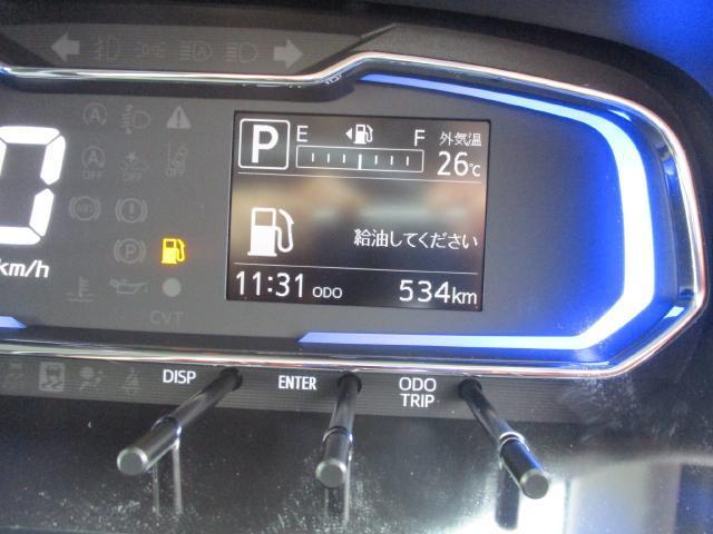 オドメーターは534kmをさしております。