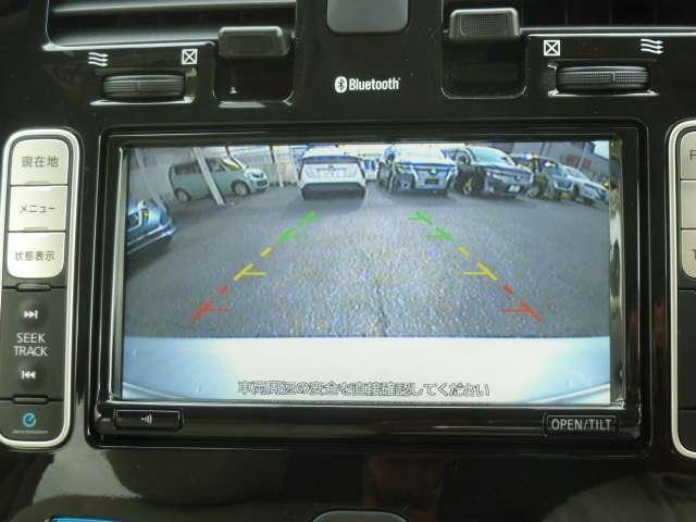 バック駐車時後方視界をバッチリ確保してくれるバックモニタ-の画像です