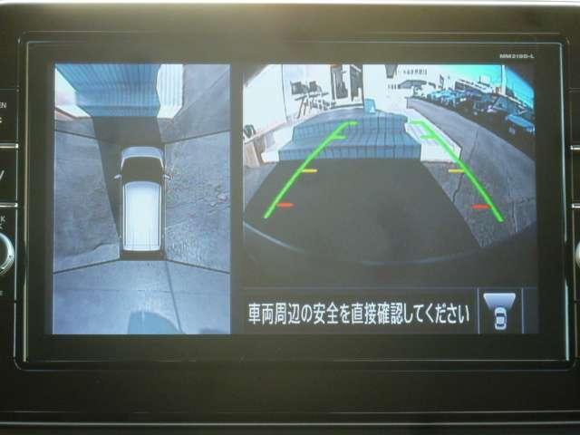 アラウンドビューモニター装備で狭い駐車場でも周囲が映像で確認、安心です!