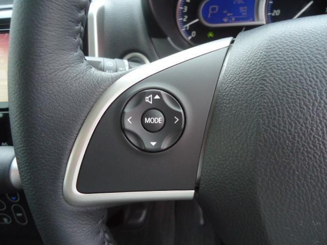 ハンドルのボタンでオーディオ操作ができます