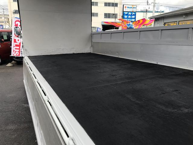 超ロング ワイド 幌 ウイング 低床トラック 6速MT(18枚目)