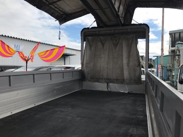 超ロング ワイド 幌 ウイング 低床トラック 6速MT(20枚目)