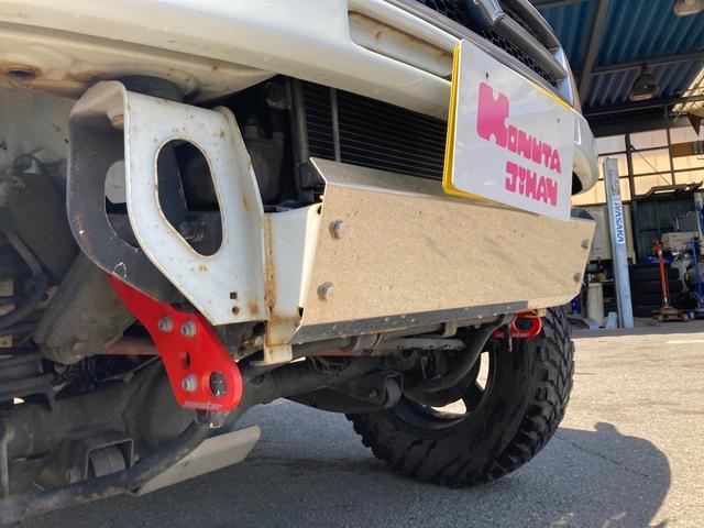 ワイルドウインド リフトアップ キーレス 5速マニュアル フル装備 4WD アルミホイール ETC 電動格納ミラー 社外パーツ 背面タイヤ ルーフレール(13枚目)