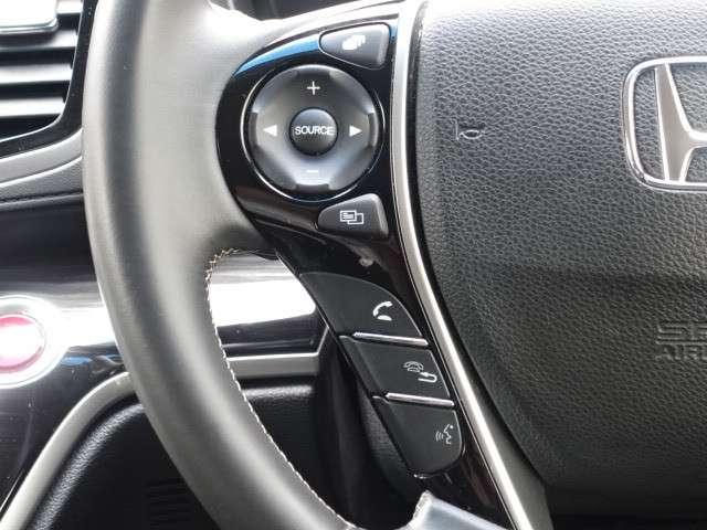 ハンドルにはオーディオリモートコントロールスイッチが装備されているので、ハンドルから手を離さずオーディオの操作ができ安全です!
