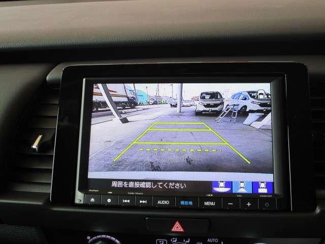 e:HEVホーム 元試乗車 ギャザズナビ Bカメラ フルセグ DVD再生 Bluetooth接続 LEDヘッドライト 追突軽減ブレーキ アダクティブクルーズコントロール ホンダコネクト 禁煙車 新車保証継承(5枚目)