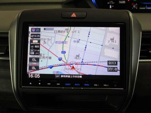 ハイブリッド・EX ギャザズ8インチナビ Bカメラ ETC フルセグ CD録音 Bluetooth LEDライト&フォグランプ 両側電動スライドドア シートヒーター サイドカーテンエアバッグ アルミホイール 禁煙車(3枚目)