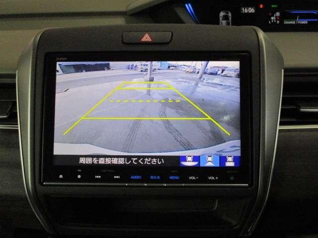ハイブリッド・EX ギャザズ8インチナビ Bカメラ ETC フルセグ CD録音 Bluetooth LEDライト&フォグランプ 両側電動スライドドア シートヒーター サイドカーテンエアバッグ アルミホイール 禁煙車(4枚目)