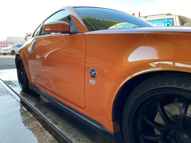 バージョンニスモ レカロシート アドバンレーシング18AW TEIN車高調 アミューズチタンマフラー トップシークレットカーボンボンネット キーレス(7枚目)
