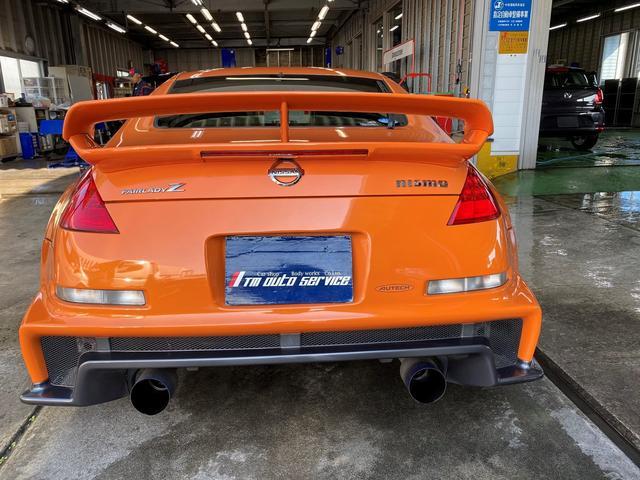 バージョンニスモ レカロシート アドバンレーシング18AW TEIN車高調 アミューズチタンマフラー トップシークレットカーボンボンネット キーレス(8枚目)