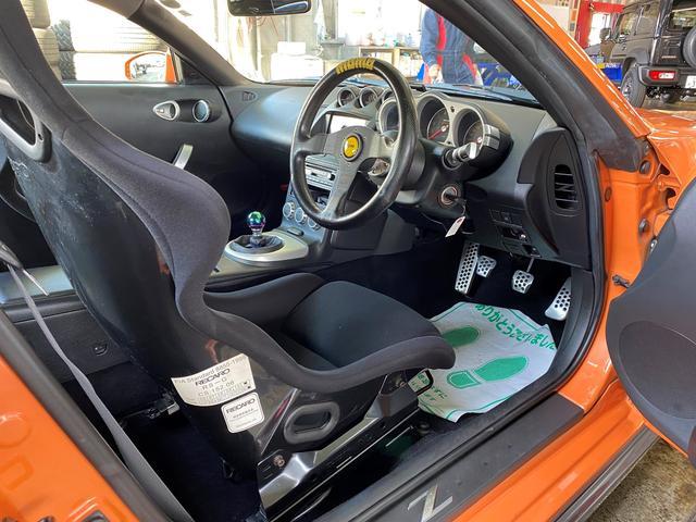バージョンニスモ レカロシート アドバンレーシング18AW TEIN車高調 アミューズチタンマフラー トップシークレットカーボンボンネット キーレス(13枚目)