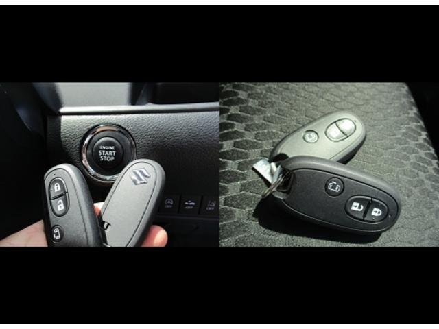 携帯リモコンキーは2個。車内にあれば鍵を刺さずにエンジンのオン、オフできます。
