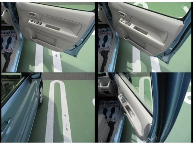 フロントドアには中間に2段のストッパー。隣の車にこつんを防いでくれます。