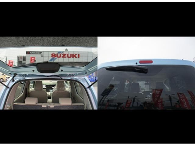 バックドアバランサーは外側で開口部分妨げず。リヤワイパーは上からで後方視界妨げません。