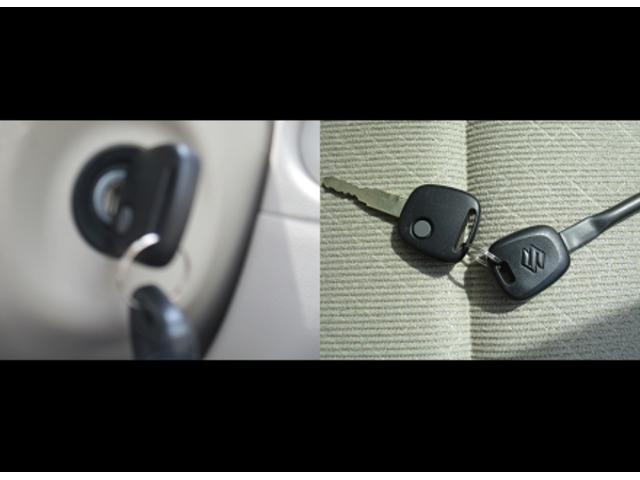 電波式キーレスエントリー。鍵穴まわりも丁寧に使用されています。