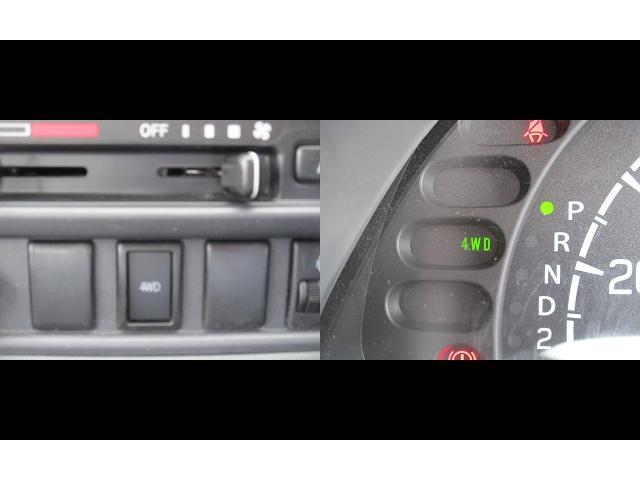 2WD⇔4WDはスイッチ一つで切り替えできるドライブセレクト4×4