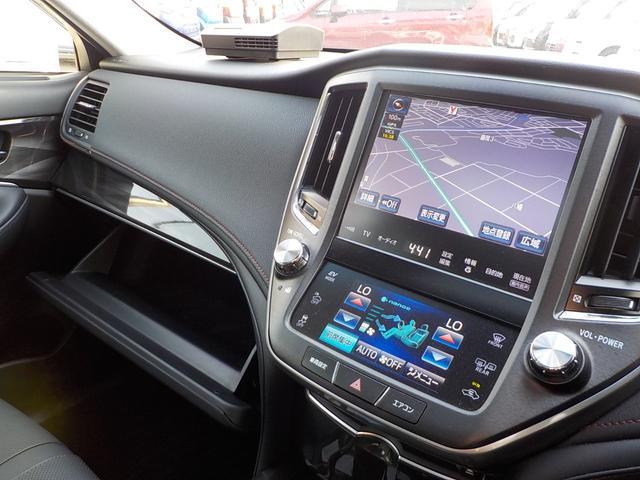 トヨタ クラウンハイブリッド アスリートG1オナHDDフルセグBカメ黒革SサンR専用エアロ
