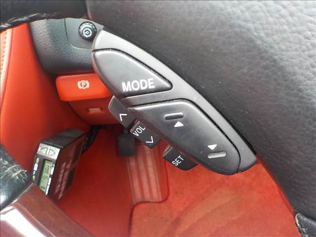 430SCV ノーブルカラーエディション レクサスSC430仕様 純正ナビ マークレビンソン 赤本革パワー&シートヒーター EDフォースコントロール付きTEIN車高調 ブリッツマフラー HIDヘッド クルーズコント 電動オープン(22枚目)