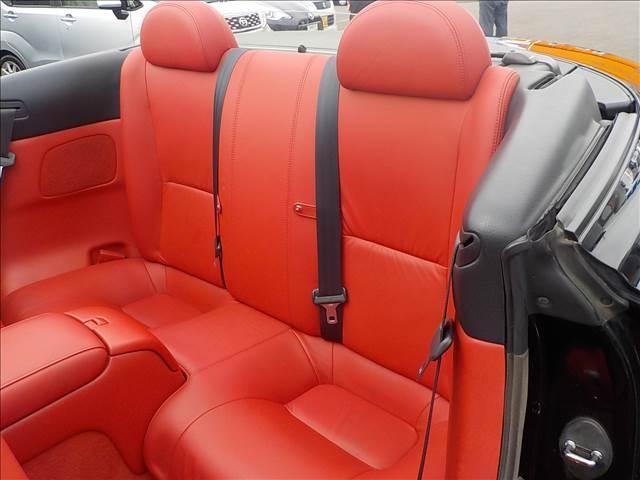 430SCV ノーブルカラーエディション レクサスSC430仕様 純正ナビ マークレビンソン 赤本革パワー&シートヒーター EDフォースコントロール付きTEIN車高調 ブリッツマフラー HIDヘッド クルーズコント 電動オープン(24枚目)