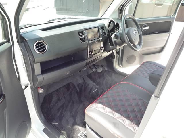 スズキ ワゴンRスティングレー X HDDナビ 革調シートカバー スマートキー