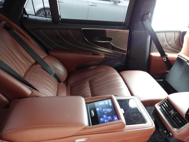 LS500h エグゼクティブ 法人1オーナー車 リアエンター後席モニター 限定オプションL-アニリン本革シート  純正オプション20インチAWブラック仕様 ローダウン マークレビンソン オートトランク ヘッドアップディスプレイ(41枚目)