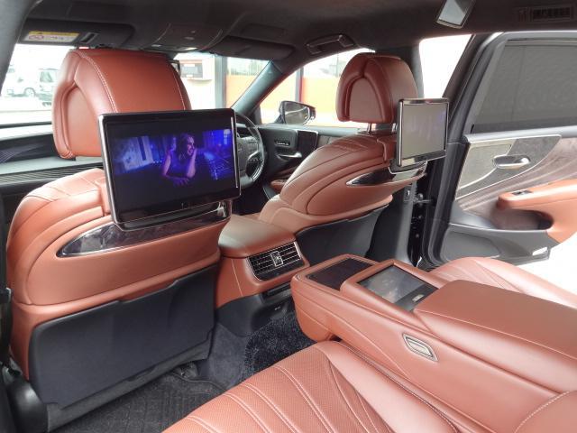 LS500h エグゼクティブ 法人1オーナー車 リアエンター後席モニター 限定オプションL-アニリン本革シート  純正オプション20インチAWブラック仕様 ローダウン マークレビンソン オートトランク ヘッドアップディスプレイ(43枚目)